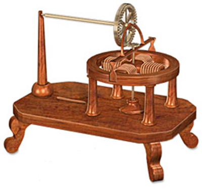 1834 The first powerful electric motor by  Thomas Davenport